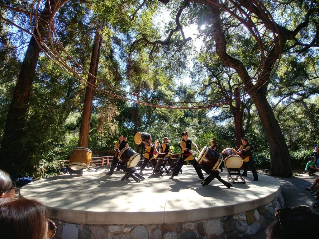 Kishin Daiko performing at Descanso Gardens